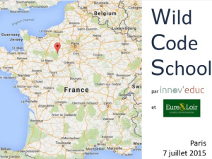 Wild code school - Conseil départemental d'Eure-et-Loir
