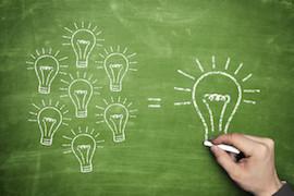 Small Light Bulbs Equal Big One